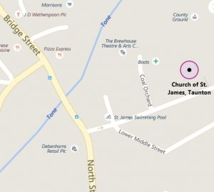 St James Church Hall Location Map